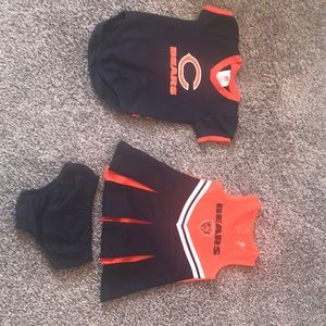 Baby girl Chicago bears outfit